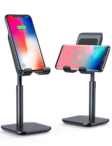 iPhone Wireless Charger, [Angle&Height Adjustable] LISEN Cell Phone Wireless Charging Stand, 10/7.5W Fast Wireless Charger for iPhone 11/Pro/Max/X/XR/XS Max, Galaxy Samsung S10/S9/S8