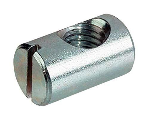HEXATON Quermutterbolzen Kreuzdübel Zylindermuttern M6 x 10 x 16 mm 50 Stück