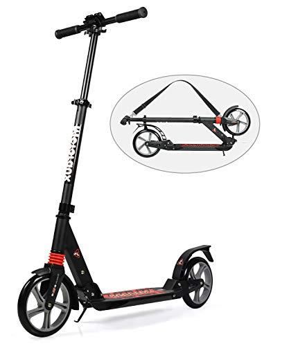 MOTORAUX 200MM Wheel Scooter, Klappbarer Cityroller Höhenverstellbar Tretroller für Erwachsene und Kinder
