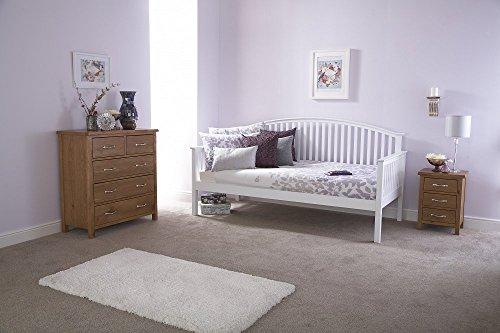 Casa fuente–lujo madera maciza nido y día camas, Blanco, Day bed Only
