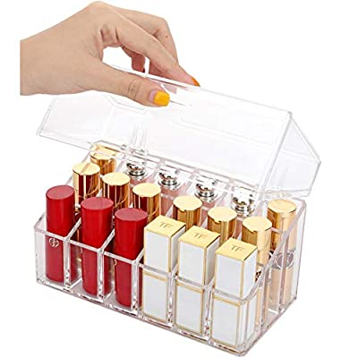 Sooyee Clear Acrylic Lipstick and Lip Gloss Holder