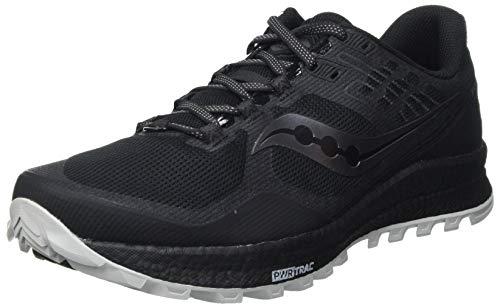 Saucony Xodus 10 Black, Zapatillas para Carreras de montaña Hombre, Noir Noir Mat, 41 EU