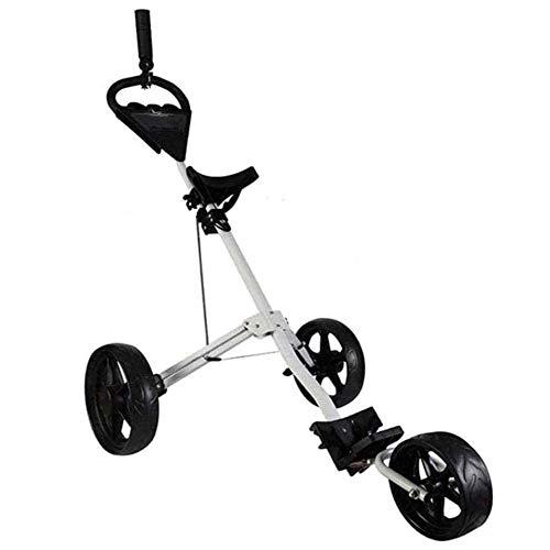 KEDUODUO Trolley Ligero, Partido de Entrenamiento Deportivo, Carrito de Golf de 3 Ruedas con Punta de hervidor de Punta Caddy Golf 🔥