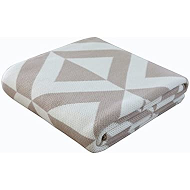 Humble Weave Soft Cotton Knit Throw Blanket - Mushroom| Aspen 50 x60
