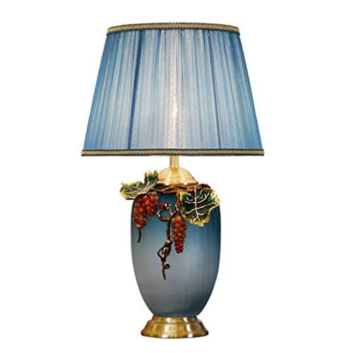 Jkckha nordic Iluminación decorativa, Reading lámpara- de noche y Estilo de cobre esmaltado lámpara de mesa Lámparas de América del dormitorio de la lámpara de mesa de noche romántica caliente de la l
