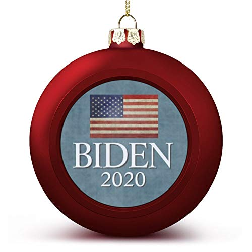 VinMea Christmas Ball Ornaments Joe Biden 2020 - Weathered American Flag Hanging Ball Decorative for Christmas Trees,Holiday Party