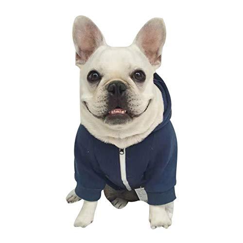 Etophigh Haustier-Hundebekleidung Zip-UpHoodie Baumwollhundekleidungs-Ausstattungs-Haustier-Kostüm für französische Bulldogge