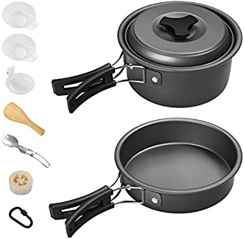 11-Count Gonex Non Stick Camping Cookware Set