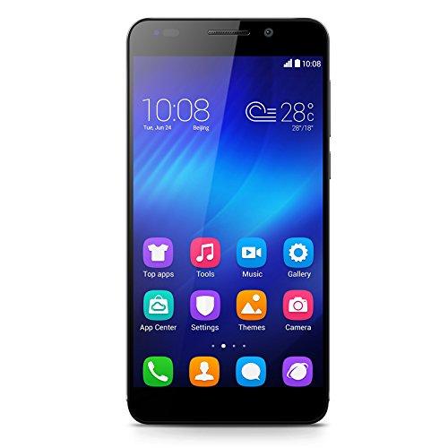 Honor 6 Smartphone (5 Zoll (12,7 cm) Touch-Bildschirm, 16 GB Speicher, Android 4.4) schwarz