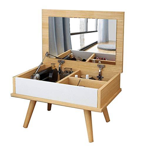zxb-shop Juego de Tocador Tocador Mini tocador de Dormitorio Plegable Multifuncional Individual (Color de Registro) de Joyas