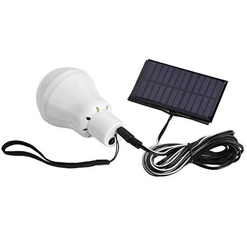 Solarleuchten Lampe LED Solar Glühbirne Solarlampen tragbare Lämpchen Licht Birne für außen Innen Garten Camping Wandern Lesen Zelt Angeln Beleuchtung, 1000mA Batterie, 12 LEDs, 3W