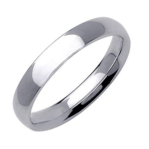 Gemini Damen-Ring Titan , Herren-Ring Titan , Freundschaftsringe , Hochzeitsringe , Eheringe, poliert , Breite 4mm Größe 56 (17.8)