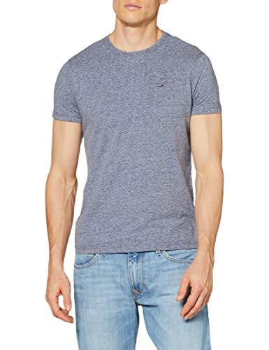 Tommy Hilfiger Original Melange cn Knit s/s Camiseta, Azul (Black Iris-PT 002), L para Hombre