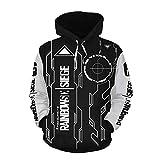 Game Rainbow Six Tom Cosplay Hoodie Sweatshirt Costume Zipper/Pullover Jacket for Men (M, Black 2)
