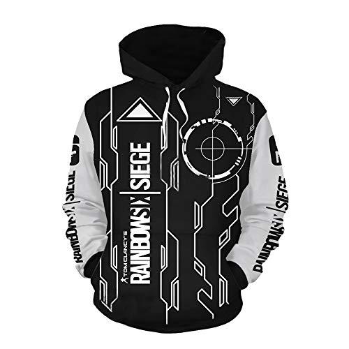 IDEALcos Spiel Siege Tom Cosplay Hoodie Sweatshirt Kostüm Halloween Zipper/Pullover Jacke (M, Schwarz 2)