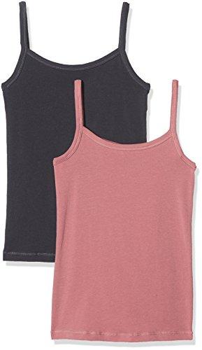 Schiesser Mädchen Unterhemd Multipack 2 Pack Spaghettitops, Mehrfarbig (Schwarz, 140 (Herstellergröße: 8-9 Jahre)