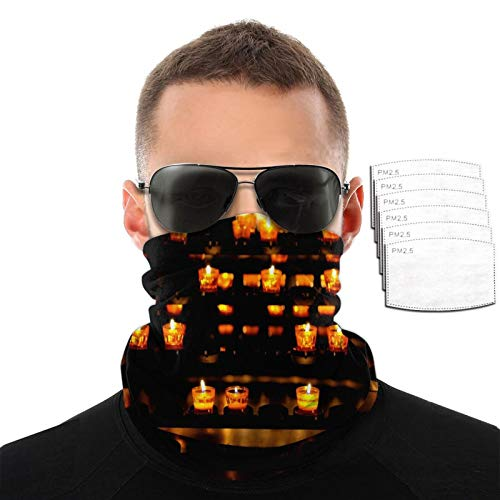Candles Variety Face Towel Scarf Bandanas Balaclava For Dust Outdoors Sports