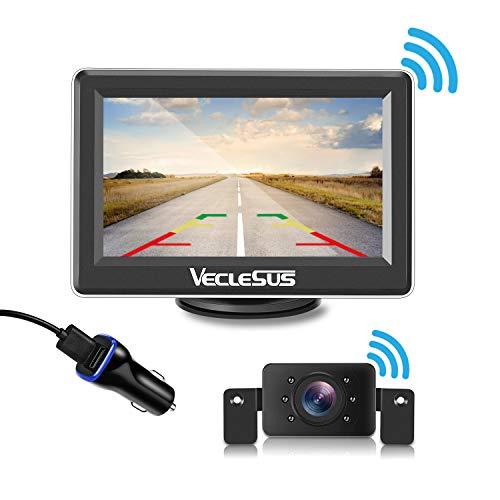 "Digital Wireless Backup Camera Kit 4.3"" LCD Wireless Car Monitor, Superior Night Vision Wide Viewing Angle Stable Signal Car Wireless Rear View Camera System for Car/Sedan/SUV/Pick Truck/Minivan"