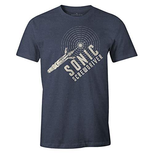 Doctor Who Herren T-Shirt Sonic Screwdriver Schallschraubenzieher blau - XL