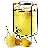Yorkshire Mason Jar Bebidas Dispensador con 8ltr Soporte | bar@drinkstuff Beverage Dispenser, Mason Jar Beverage Dispenser, jugo dispensador, dispensador de cóctel, vintage Bebidas Dispensador