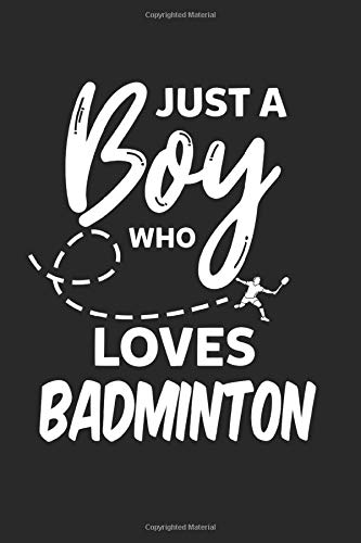 Boy Loves Badminton Shuttlecock Funny Gift: Graph Paper 1 cm (6x9 inches) with 120 pages