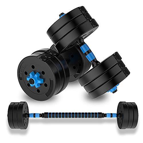 YQSB - Juego de mancuernas ajustables (1 par, 5 kg, 7,5 kg, 10 kg, 15 kg, 20 kg, para hombres, equipo de fitness para entrenamiento de músculos de brazo), tamaño 20kg*2