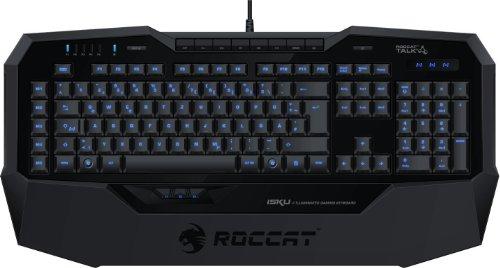 Roccat ISKU Illuminated Gaming Keyboard Tastatur, italienisches Layout