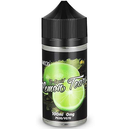 IMECIG® Zitrone Premium E Liquid Vape Eliquid E Shisha Liquids Set für E Zigaretten/Elektrische Zigarette/E Shisha, Ohne Nikotin(100ML) (MEHRWEG-VERPACKUNG)