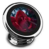 Red Rose Flower Magnetic Phone Car Seat Universal 360°Rotating Magnetic Dashboard Mobile Phone Holder, Mobile Phone Car Kit, Suitable for All Smart Phone Compatible Cars