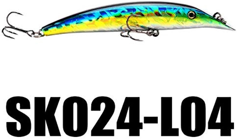 Generic SeaKnight SK024 Minnow Fishing Lure Set 5PCS Lot Artificial Bait 9g 98mm 01M Floating Lure AntiCorrosion Swimbait Box Packing L04 5PCS