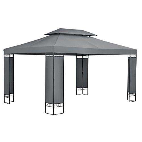 ArtLife Gartenzelt Capri 3 x 4 m in grau – Outdoor Pavillon wasserdicht und faltbar – für Garten-Feste und Feiern – aus stabilem Metall und Polyester