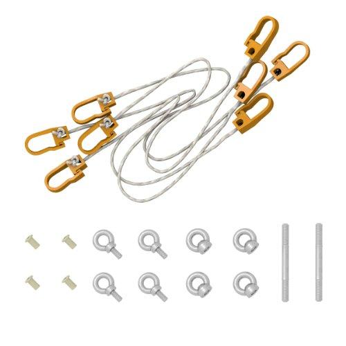 Ampel 24 Stabhängematten Sicherung erleichtert EIN- & Ausstieg für Hängemattengestelle aus Holz und sichert Hängematten bei Wind