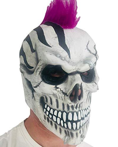 Masque tête de mort Punk Ghoulish Mohawk Fancy Dress Masque