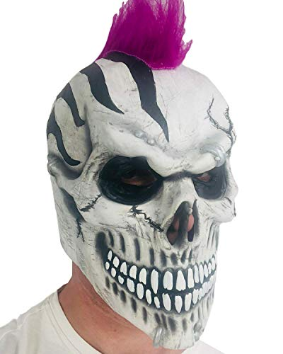 Masque tête de mort Punk Ghoulish Mohawk Fancy Dress Masque