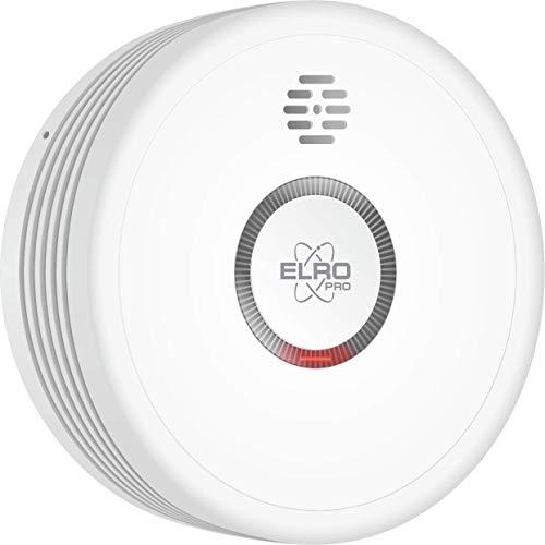 ELRO PRO PS4910 Design Rauchmelder mit 10 Jahre Batterie-Automatischer Selbsttest-Nachtmodus-Entspricht der Europäischen Norm EN14604