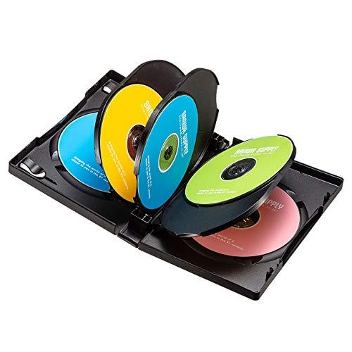 『サンワサプライ DVDトールケース(8枚収納) ブラック 3枚セット DVD-TW8-03BK』の1枚目の画像
