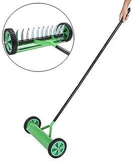 Dale vitalidad al c/ésped rastrillo de Acero galvanizado y Polipropileno SOULONG Pr/áctico Ventilador de c/ésped escarificador Manual con 44 cm de Ancho de Trabajo
