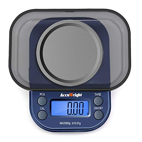 ACCUWEIGHT 255 Báscula de Precisión Digitale, 300 g / 0.01 g Balanza...