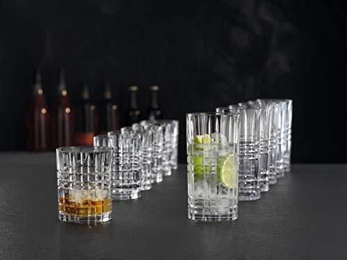 Spiegelau & Nachtmann, 12-teiliges Becher-Set, 6x Tumbler Square (345 ml), 6x Longdrink Square (445 ml), Kristallglas, Highland, 101754