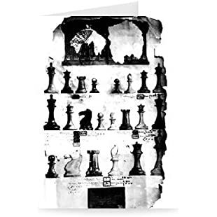 The Staunton Chessmen Patent Drawing (pen.. - Greeting Card (Pack of 2) - 7x5 inch - Art247 - Standard Size - Pack Of 2:Maxmartyn