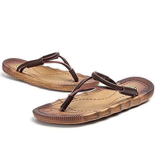Slim Zehentrenner,Classic Unisex-Erwachsene Flip Flops,Strand Flip Flops, Flip Flops-braun_39