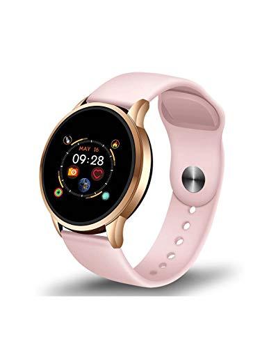 Roneberg RLF Sports - Reloj inteligente para mujer activa que quieren tener más control sobre su salud y condición física, monitor del sueño, información sobre llamadas entrantes.