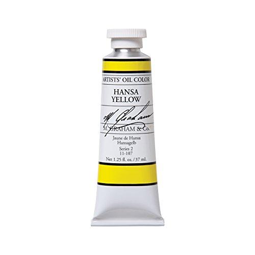 M. Graham & Co. Artist Oil Paint Hansa Yellow (Lemon Yellow) 1.25oz/37ml Tube