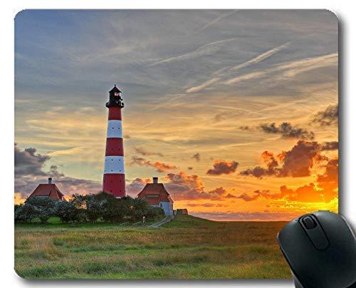 Preisvergleich Produktbild Genähte Kanten-Mauspads,  Leuchtturm bei Nacht-Gaming-Mauspad
