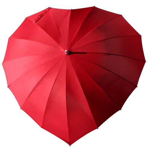 Herz-iger Regenschirm Rot zur Hochzeit und Anderen Festen der Liebe mit Ihrer individuellen Gravur