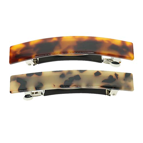 Colcolo Packung mit 2 Fashion Charms Leopard Spring Automatische Haarspange