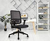 INNOWIN Nylon Pony Mid Back Chair for Office & Home (Black)