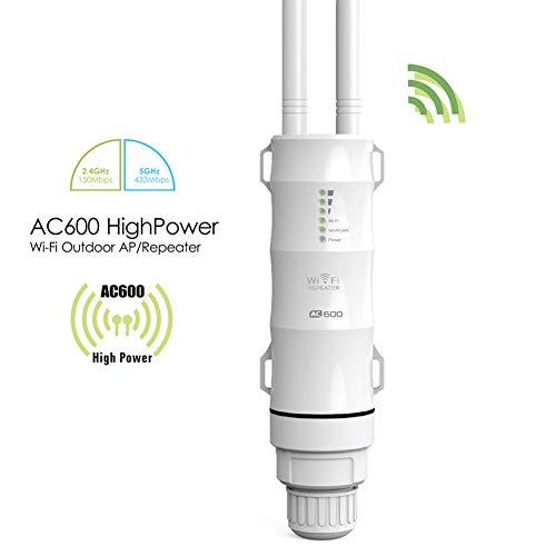Lhlzjq De Alta Potencia al Aire Libre WiFi del Router/Punto de Acceso/CPE/WiFi WISP repetidor inalámbrico Dual Dand 2,4/5 GHz 12 dBi Antena PoE