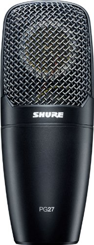 Shure PG27-LC Cardioid Side-Address Condenser Multi-purpose Microphone with XLR connector,
