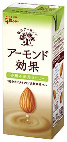 グリコ アーモンド効果 砂糖不使用 コーヒー 200ml×24本入